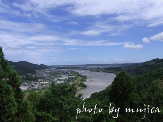 大井川と島田市街