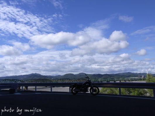 virago250と鉄橋