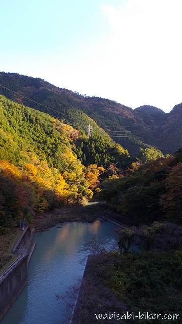 黄葉と笹間川ダム