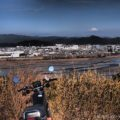 冬のバイク散歩★正月飾りと富士山と