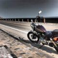 御前崎で、バイク写真☆20年目のビラーゴ
