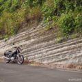 バイクで地層と稲穂のある風景を探しに行く☆YAMAHA SR125