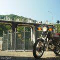 頭痛ツーリング★笹間川ダムでバイク写真撮影
