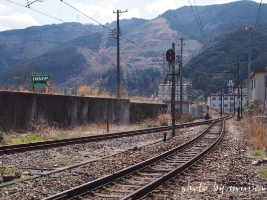 福用駅の線路