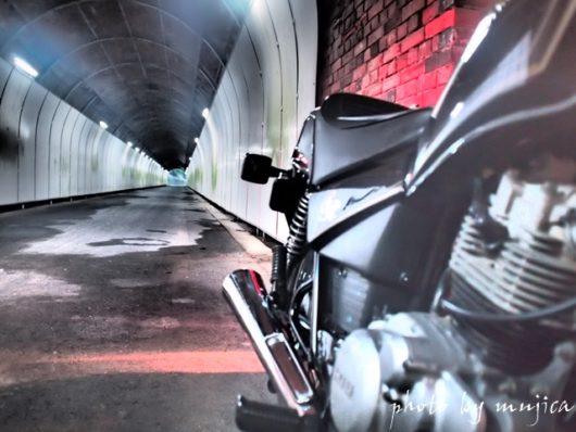 SR125と青田隧道