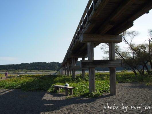 蓬莱橋の橋下