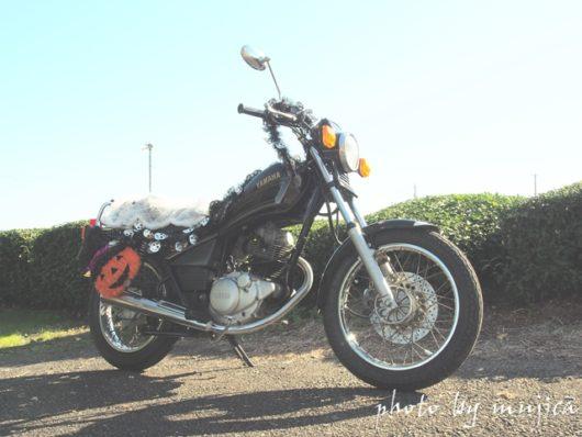 ハロウィン仕様のSR125