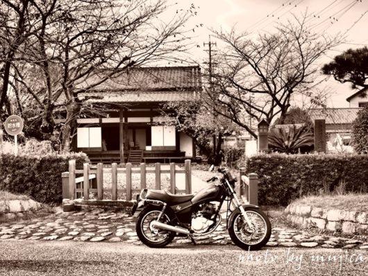 SR125と大井川川越遺跡の川会所