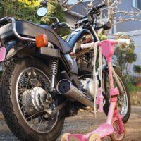 キックボードとオートバイ
