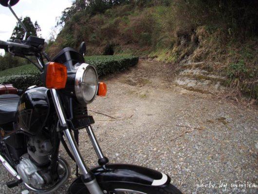 オートバイと地層