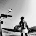 【セルフィー】茶畑に吹く風を撮りたくて★YAMAHA SR125