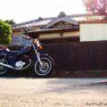 レトロ建築『榊原医院』とバイクのある風景☆YAMAHA SR125