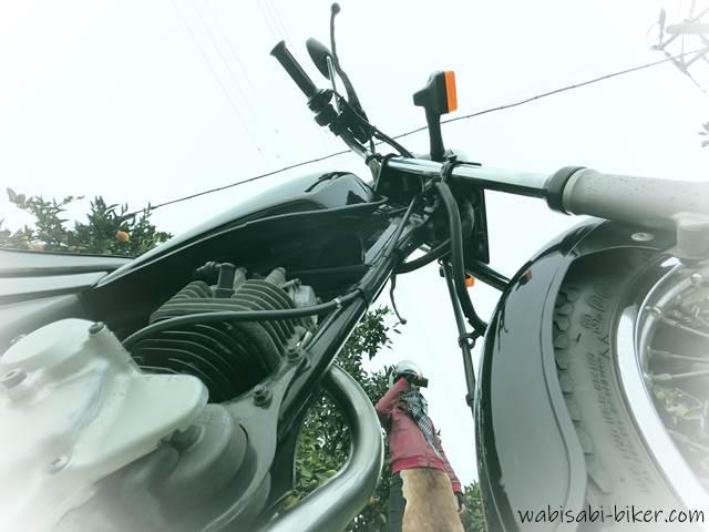 バイクと自撮り