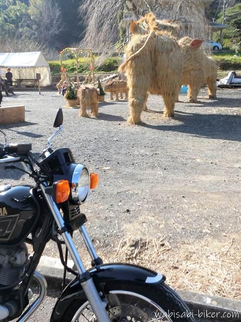 バイクと亥のジャンボ干支