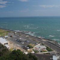 灯台から眺めた御前崎海岸