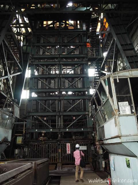 旧住友赤平炭鉱立坑櫓の下部