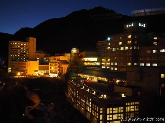 定山渓温泉 夜景