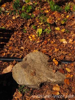 定山渓二見公園の石