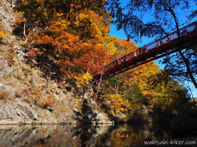 定山渓 かっぱ淵の紅葉