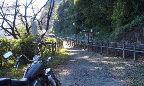 神尾駅とオートバイ