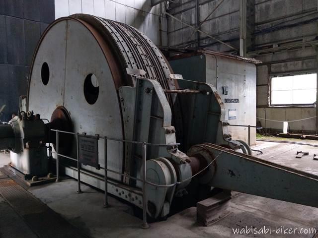 旧住友赤平炭鉱立坑櫓 巻上機