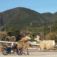 ネズミのジャンボ干支とオートバイ