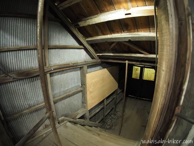 旧住友赤平炭鉱立坑櫓 建屋内の通路