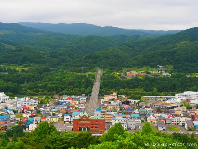 ズリ山展望広場からの眺め