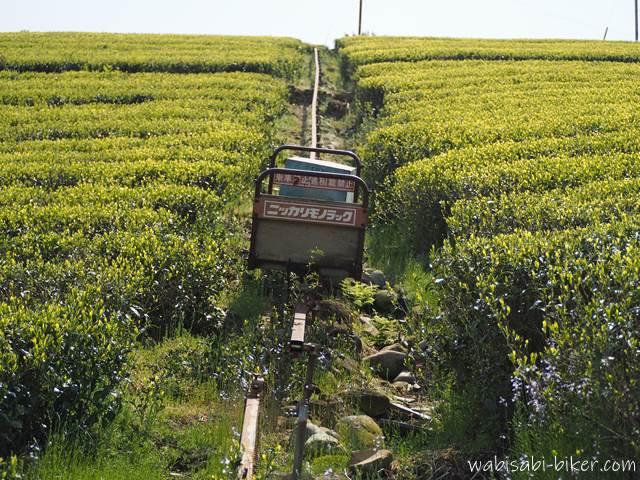茶畑の農業用モノレール モノラック
