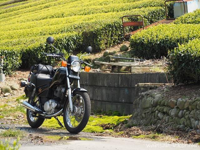 茶畑とバイクとモノラック