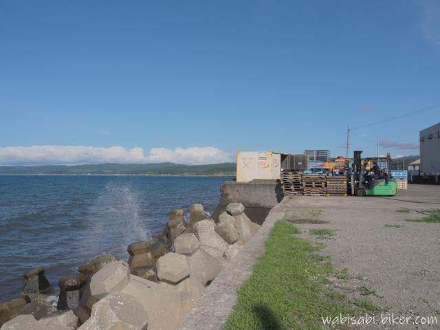 増毛町から眺める日本海