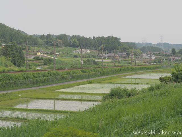 水田と線路 カナキク
