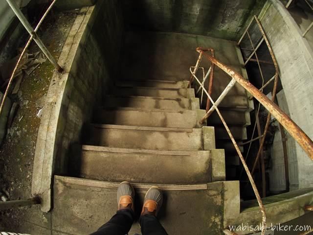 旧住友赤平炭鉱立坑櫓 建屋内部の階段
