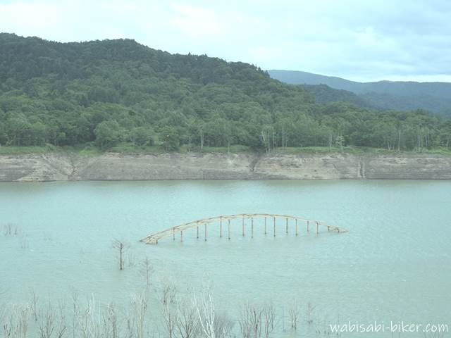シューパロ湖 旧白銀橋