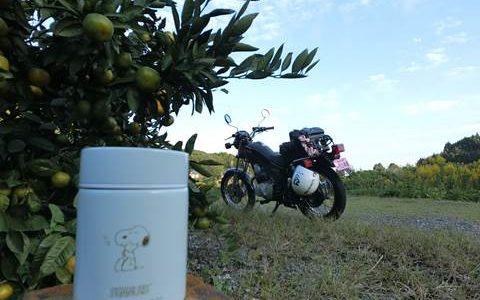 スヌーピーのスープジャーとオートバイ