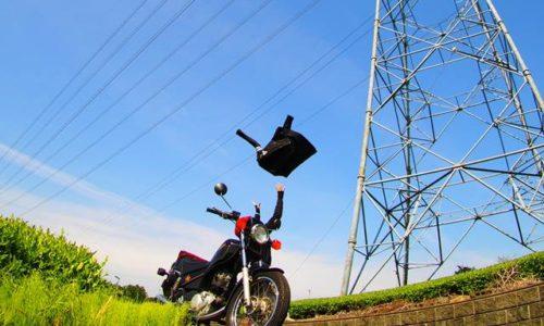 オートバイと空飛ぶバイクジャケット
