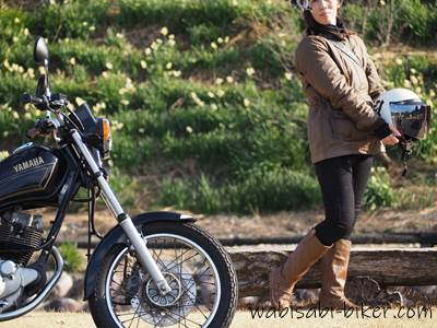 オートバイとセルフポートレート