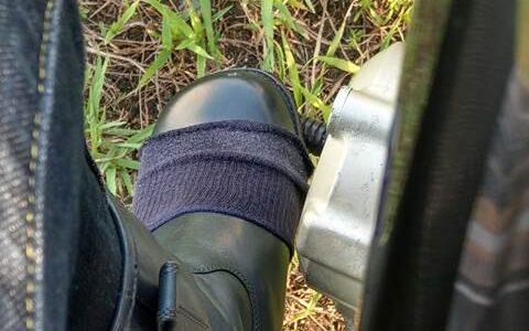 靴下を利用したバイク用シフトガード