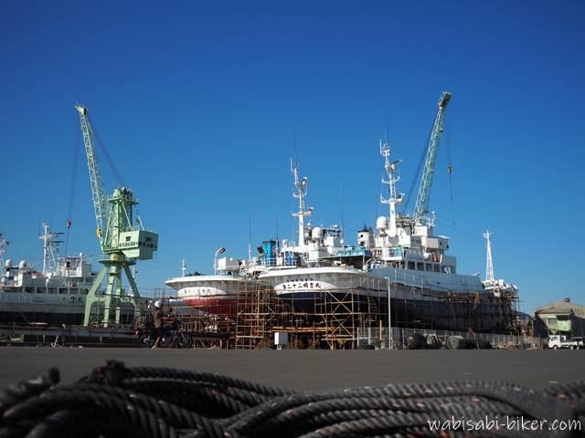 焼津の造船所