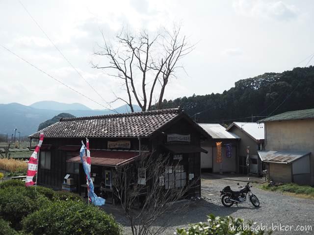 大井川鐵道抜里駅とオートバイ