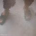 ベランダサンダルの足元と靴クリーム